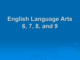 English Language Arts 6-9