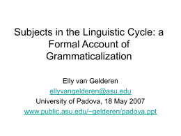 Subjects and the Linguistic Cycle