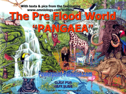 The Pre Flood World - Powerpoint Paradise