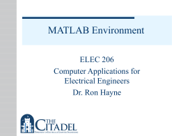 MATLAB Environment