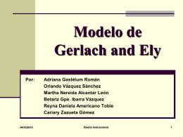 Modelo de Gerlach and Ely