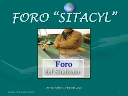 "FORO ""SITACYL"""