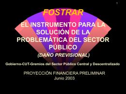 COSTEO PRELIMINAR FOSTRAT, ABRIL 2003