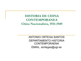 HISTORIA DE CHINA CONTEMPORANEA China …