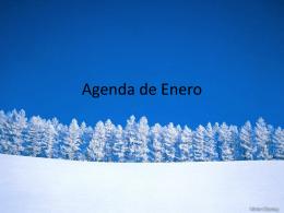 Agenda de Enero