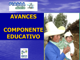 Avances del Componente Educativo