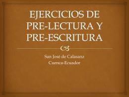 EJERCICIOS DE PRE-LECTURA Y PRE