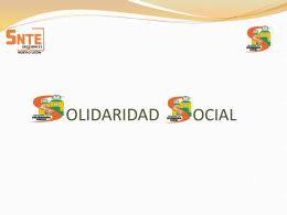 OLIDARIDAD OCIAL