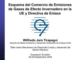 Comercio de Emisiones de GEI en la UE y Directiva de Enlace