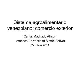 Sistema agroalimentario venezolano: comercio exterior