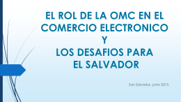 EL ROL DE LA OMC EN EL COMERCIO ELECTRONICO. …