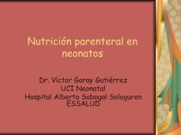 Vitaminas y Aminoacidos en nutricion parenteral