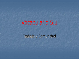 Vocabulario 5.1