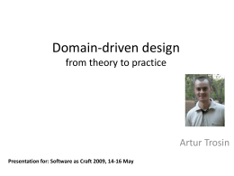 Domain-driven design from theory to practice