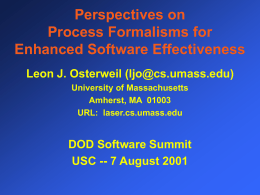 IV. Software Processes - University of Southern California
