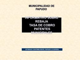 Diapositiva 1 - Municipalidad de Papudo