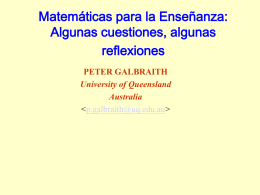Mathematics for teaching: some issues, some reflections