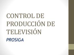CONTROL DE PRODUCCION DE TELEVISION