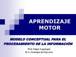 APRENDIZAJE MOTOR - SALUDMED: Ciencias del Ejercicio …