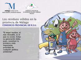 Diapositiva 1 - Consorcio RSU Consorcio Provincial de RSU
