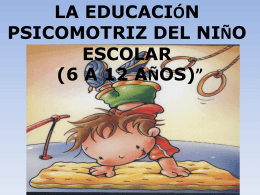 Diapositiva 1 - educacion psicomotriz