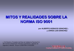MITOS Y REALIDADES SOBRE ISO 9001