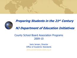 Learning and Leading in the 21st Century: NJDOE Update