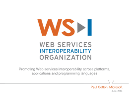 WS-I Overview Presentation