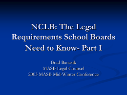 No Child Left Behind: The Legal Requirements