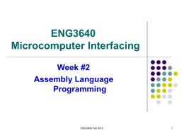 ENGG 3640: Microcomputer Interfacing
