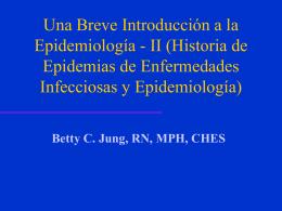 Una Breve Introducciуn a la Epidemiologнa