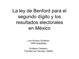 Ley de Benford - Welcome to em.fis.unam.mx