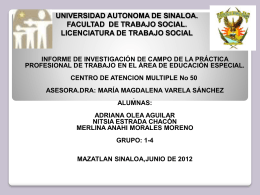 UNIVERSIDAD AUTONOMA DE SINALOA. FACULTAD DE …
