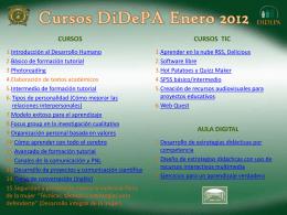 Cursos DiDePA Enero 2012