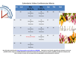 Calendario Video Conferencias Marzo
