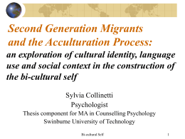 Second Generation Migrants and Language …