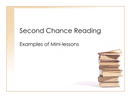 Second Chance Reading