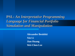 PSL: An Interpretative Programming Language for …