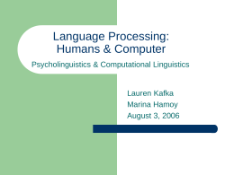 How Humans Process Language