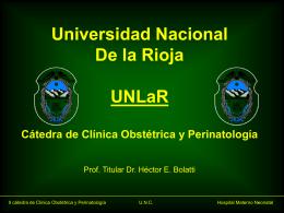 Diapositiva 1 - Inicio - Catedra Obstetrucia Bolatti