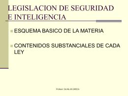 SISTEMA DE SEGURIDAD DE LA NACION ARGENTINA