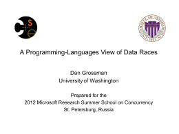 Programming Languages & Software Engineering