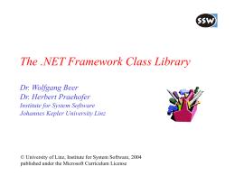 Die .NET Klassenbibliothek