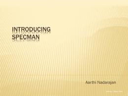 Introducing Specman
