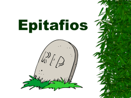 Epitaphs Written by God