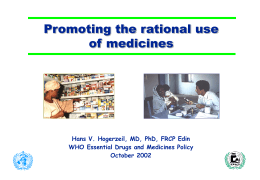Promoting the rational use - World Health Organization