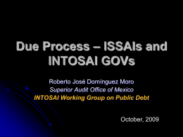 Due Process – ISSAIs and INTOSAI GOVs