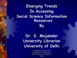 E-Resources in Social Sciences