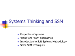 Systems Thinking - Computing at Northumbria