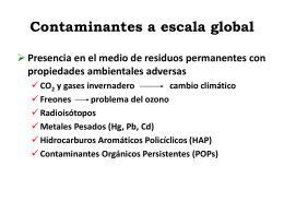 Contaminantes a escala global